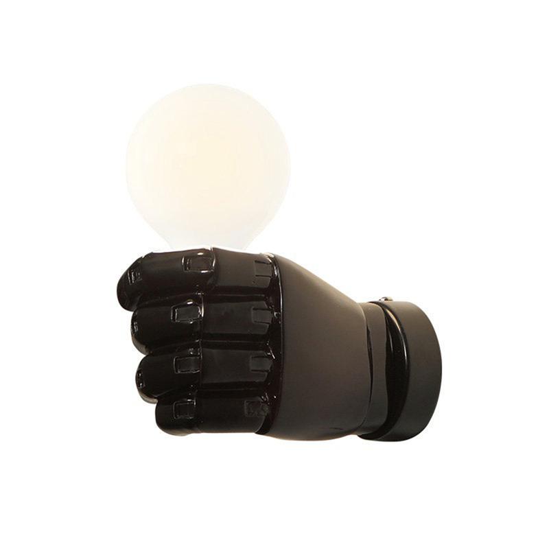 negro-lampara-de-pared-de-resina-de-puno-creativo-vintage-lampara-luz-indust-9Z2 miniatura 3