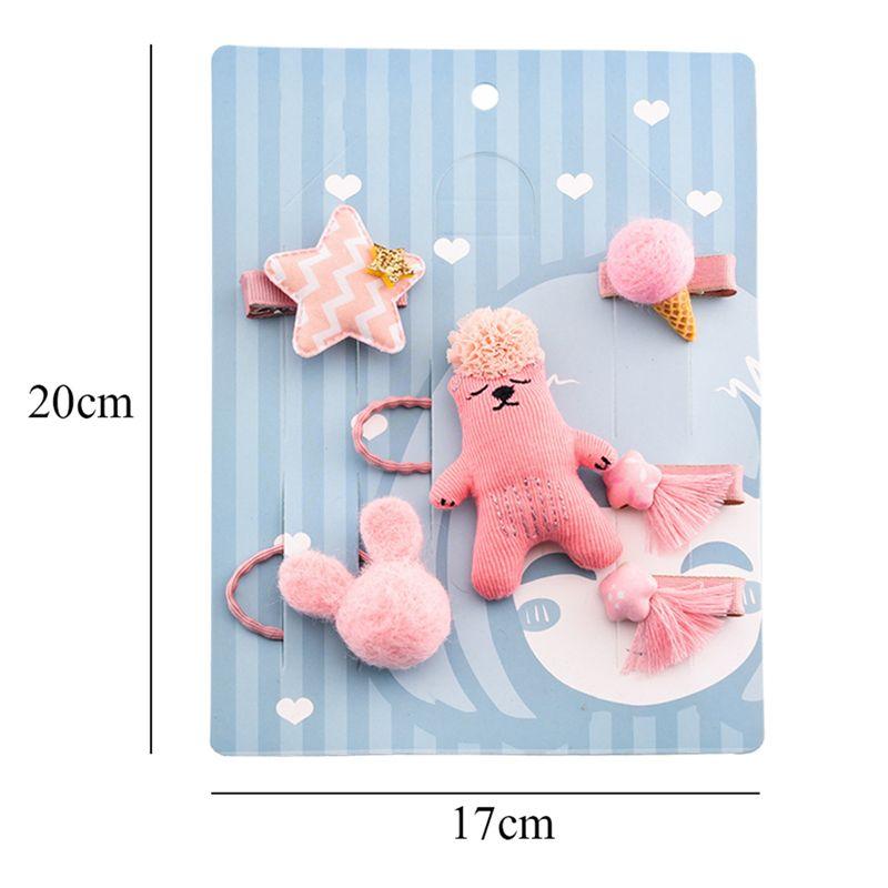 1-set-of-6pcs-cute-fabric-bear-Pentagram-Icecream-set-of-hairpin-combo-birt-V5O2 thumbnail 11