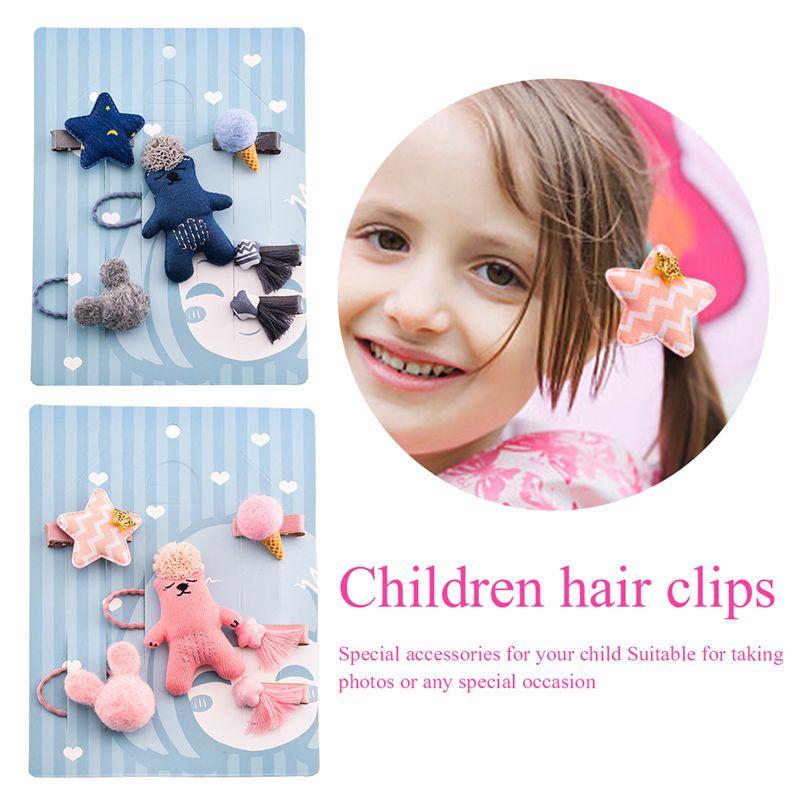 1-set-of-6pcs-cute-fabric-bear-Pentagram-Icecream-set-of-hairpin-combo-birt-V5O2 thumbnail 13