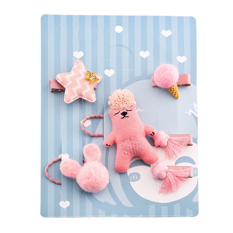 1-set-of-6pcs-cute-fabric-bear-Pentagram-Icecream-set-of-hairpin-combo-birt-V5O2 thumbnail 14