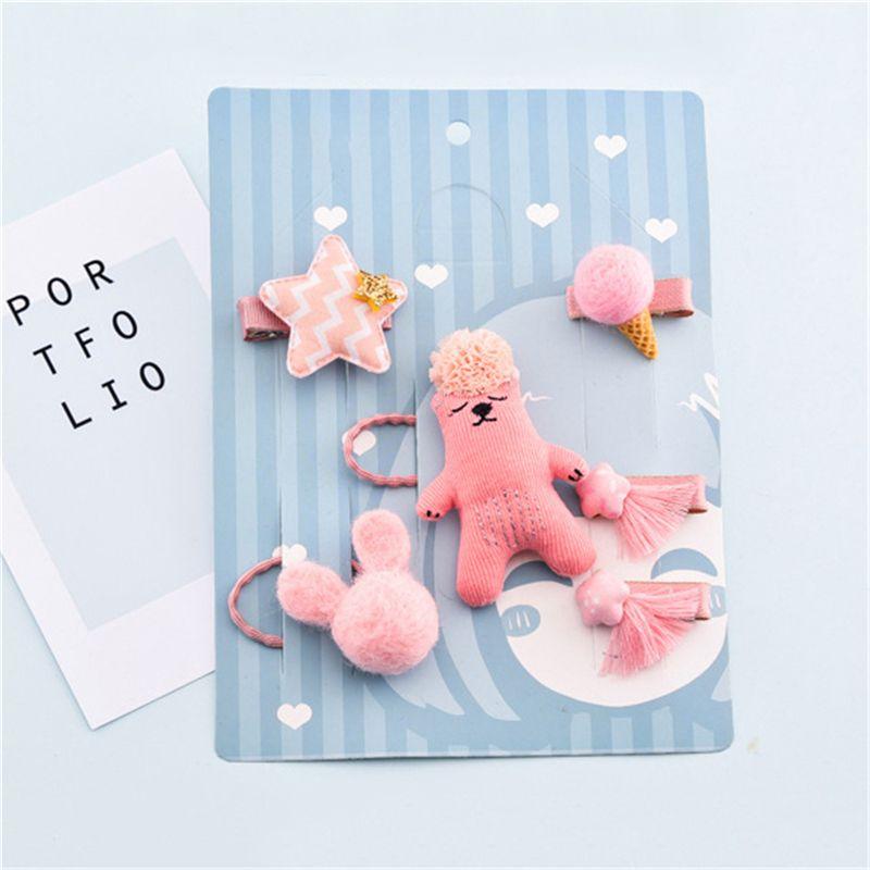 1-set-of-6pcs-cute-fabric-bear-Pentagram-Icecream-set-of-hairpin-combo-birt-V5O2 thumbnail 15
