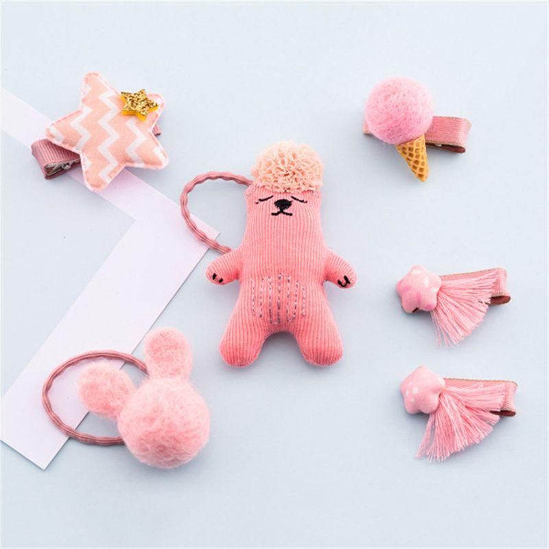 1-set-of-6pcs-cute-fabric-bear-Pentagram-Icecream-set-of-hairpin-combo-birt-V5O2 thumbnail 17