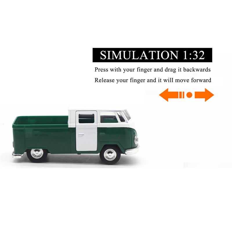 Dettagli su 3X(Verde simulazione 1:32 suono e musica leggera tirare indietro retro van AB