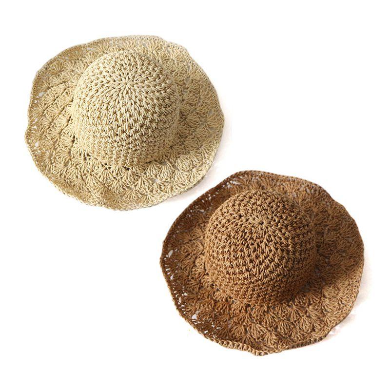 Nouveau-chapeau-visiere-plage-d-039-ananas-Panama-a-crochet-fait-main-pour-des-en-M4 miniature 4