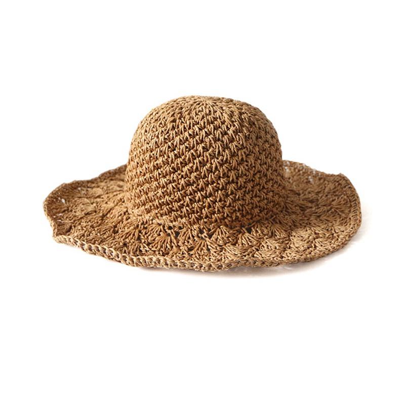 Nouveau-chapeau-visiere-plage-d-039-ananas-Panama-a-crochet-fait-main-pour-des-en-M4 miniature 5