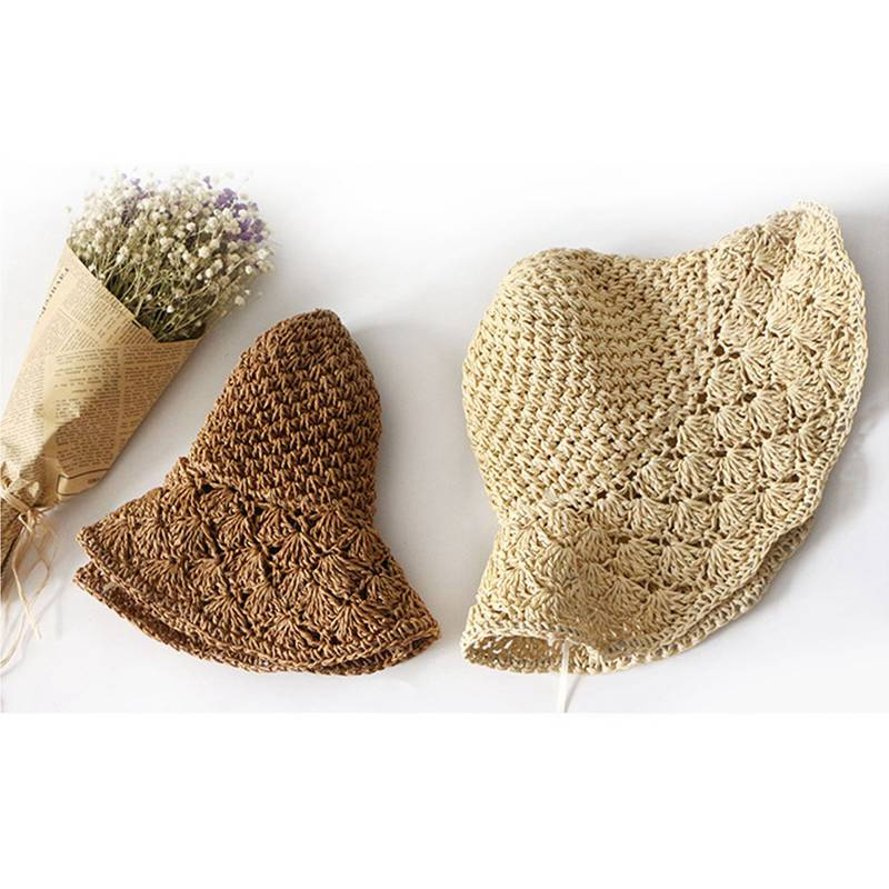 Nouveau-chapeau-visiere-plage-d-039-ananas-Panama-a-crochet-fait-main-pour-des-en-M4 miniature 10