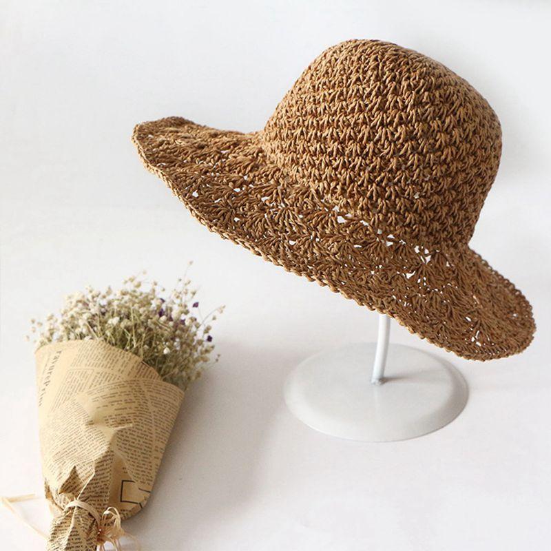 Nouveau-chapeau-visiere-plage-d-039-ananas-Panama-a-crochet-fait-main-pour-des-en-M4 miniature 11