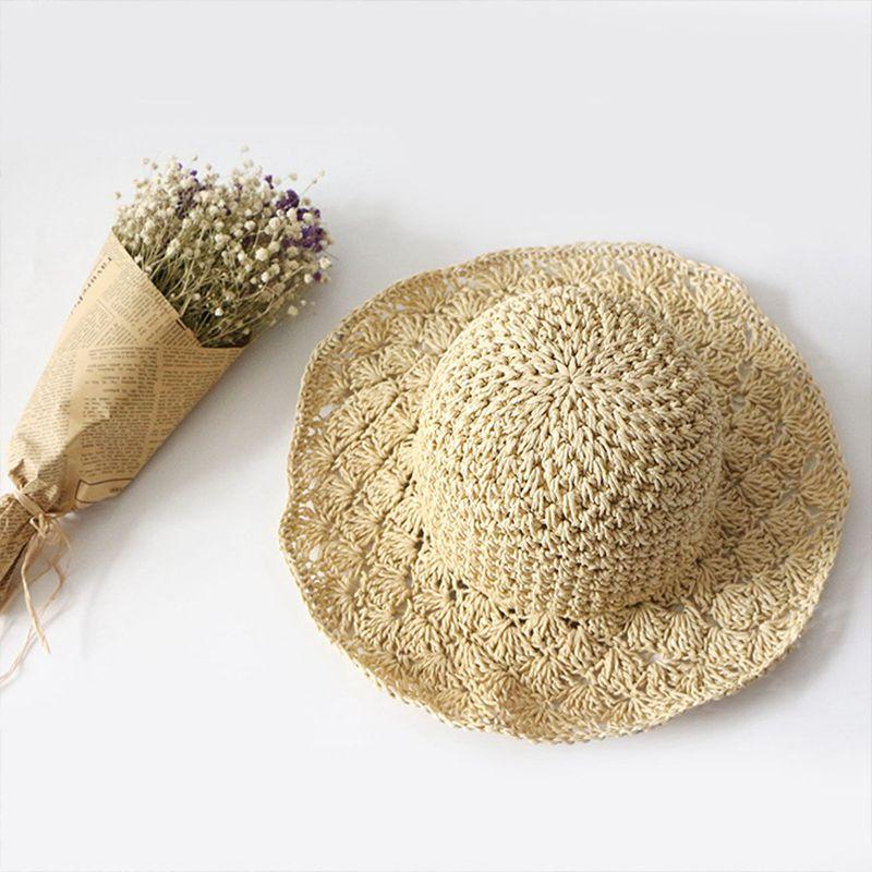 Nouveau-chapeau-visiere-plage-d-039-ananas-Panama-a-crochet-fait-main-pour-des-en-M4 miniature 19