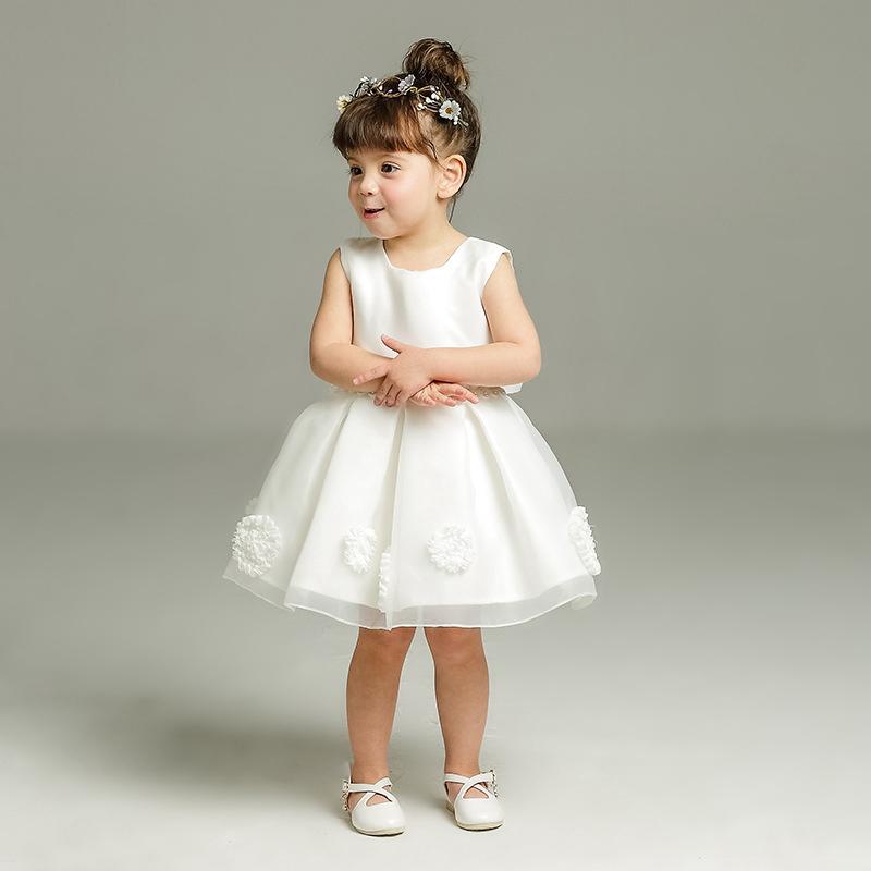 94357298bcc5 Dmfgd Flower Baby Girl Wedding Dress Infant Princess Little Girls 1 ...