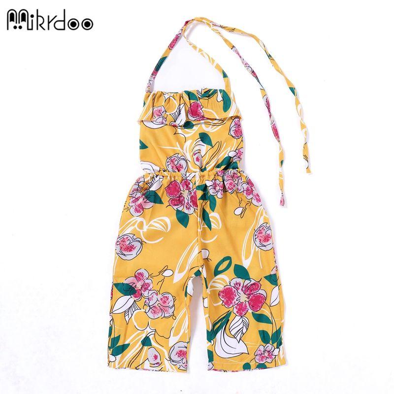 bina-generale-Toddler-Neonato-fiori-stampati-pantaloni-tuta-intera-100-cm-S2N7