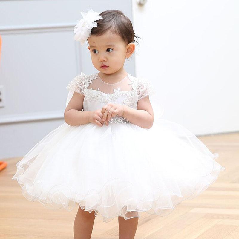4c7ad5bd9 Dmfgd Newborn Baby Girls Dresses for Baptism Birthday Party Formal ...