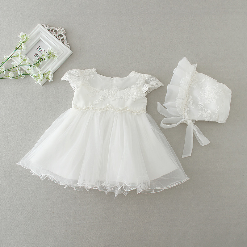 2X DMfgd Newborn Baby Girls Dresses For Baptism
