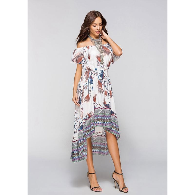 6f6d83551 2X(Vestido de estilo boho de moda de mujer Vestidos de verano de ...