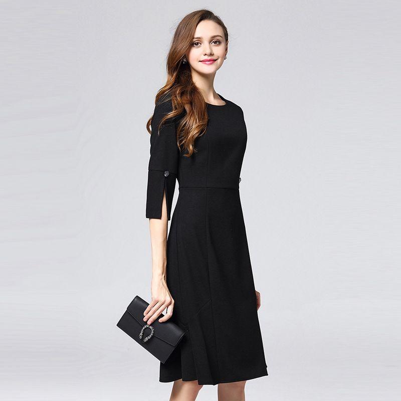 65bf09c4a 2X(Marina Kaneva Vestido de oficina de verano para mujer Vestidos de ...