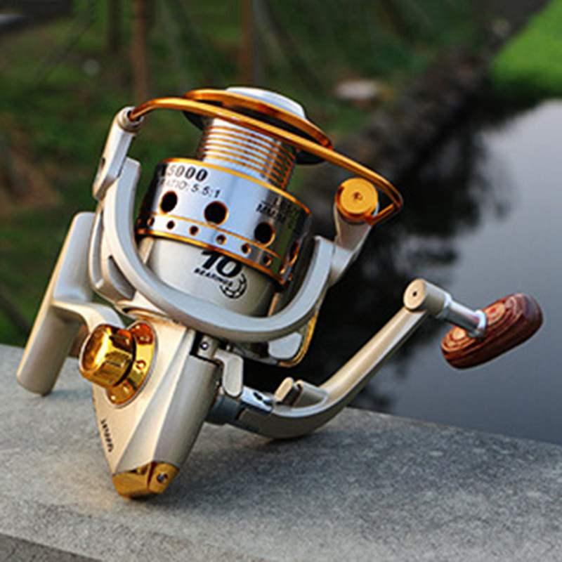 YUMOSHI-Carrete-de-pesca-de-hilado-Carrete-de-pesca-de-12-rodamiento-de-bol-D3E5 miniatura 9