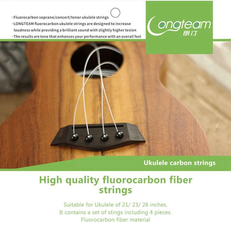 Longteam-Cuerdas-de-carbono-Ukulele-Cuerdas-de-fibra-de-fluorocarbono-para-F3F7 miniatura 9
