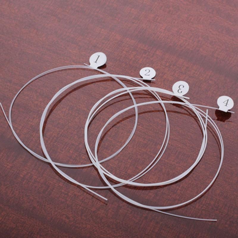 Longteam-Ukulele-carbonio-Strings-fluorocarburi-fibra-Corde-per-21-23-26-po-C8X7 miniatura 3