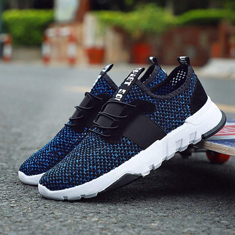 Mesh-Breathable-Men-Shoes-Walking-Men-Sneaker-Comfort-Run-Athletic-Shoe-Sof-E4S3 thumbnail 4