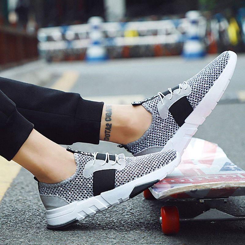 Mesh-Breathable-Men-Shoes-Walking-Men-Sneaker-Comfort-Run-Athletic-Shoe-Sof-E4S3 thumbnail 21