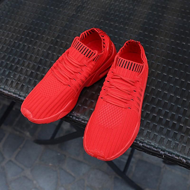 Men-039-s-Running-Shoes-Light-Training-Shoes-Mesh-Breathable-Male-Shoes-Lace-Up-L3E7 thumbnail 4