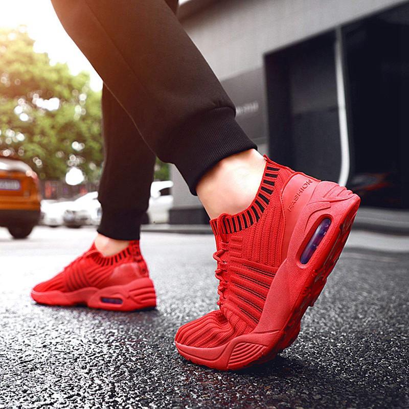 Men-039-s-Running-Shoes-Light-Training-Shoes-Mesh-Breathable-Male-Shoes-Lace-Up-L3E7 thumbnail 8