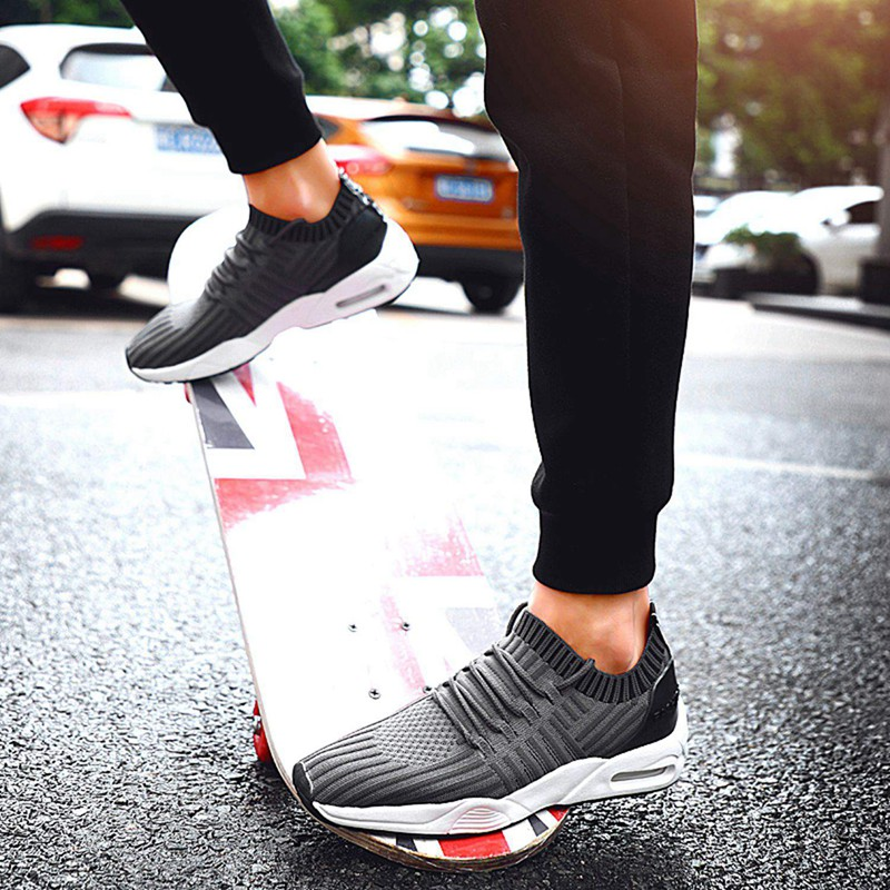 Men-039-s-Running-Shoes-Light-Training-Shoes-Mesh-Breathable-Male-Shoes-Lace-Up-L3E7 thumbnail 30