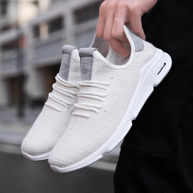 Flax-Mesh-Breathable-Men-Running-Shoes-Walking-Men-Sneaker-Comfort-Run-Athl-L9O5 thumbnail 7