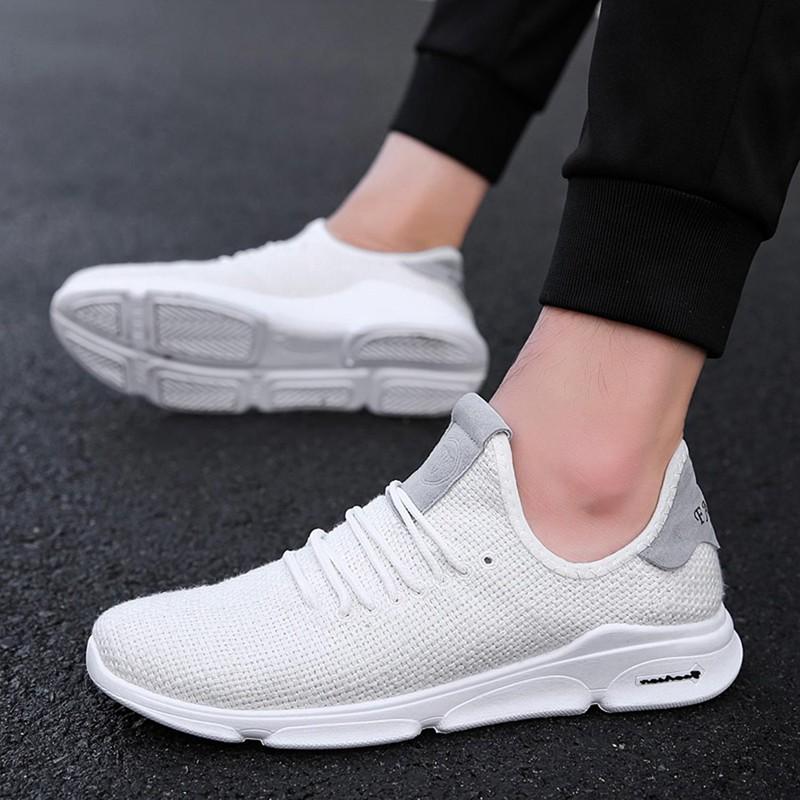 Flax-Mesh-Breathable-Men-Running-Shoes-Walking-Men-Sneaker-Comfort-Run-Athl-L9O5 thumbnail 9