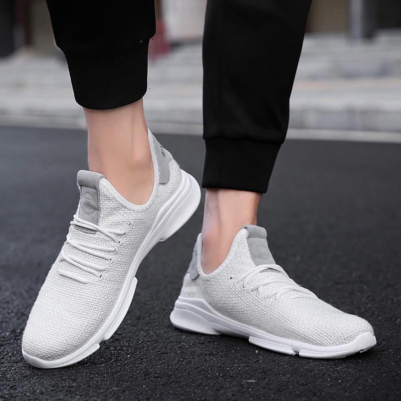 Flax-Mesh-Breathable-Men-Running-Shoes-Walking-Men-Sneaker-Comfort-Run-Athl-L9O5 thumbnail 11