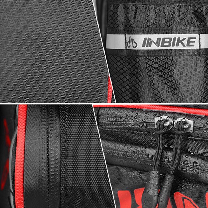 INBIKE-Bolsa-de-sillin-bicicleta-trasera-MTB-impermeable-cola-para-ciclista-tiP8 miniatura 4