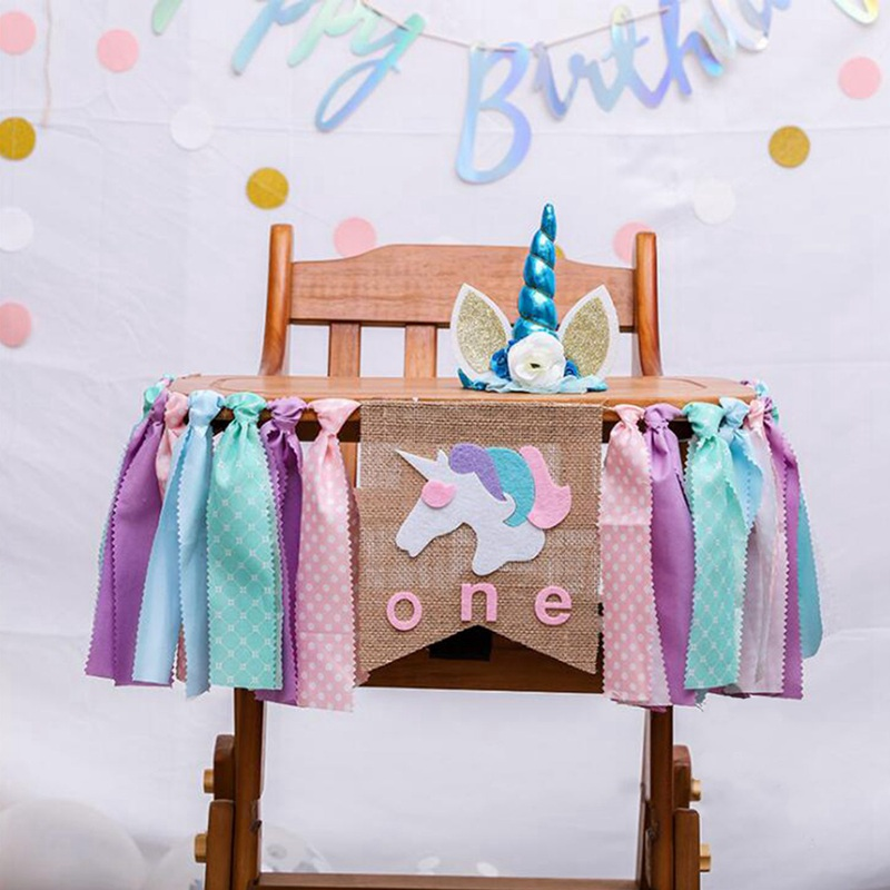 1X Unicorn Party Decoration Baby 1 Year Old