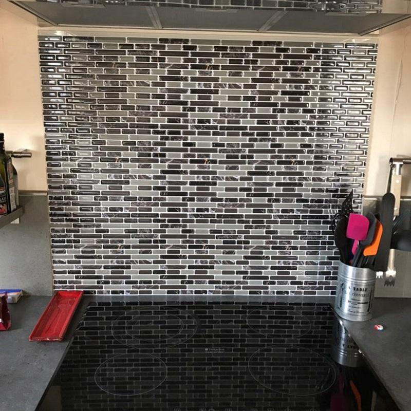 1X(selbstklebende Mosaik Fliesen Wand Aufkleber Aufkleber ...