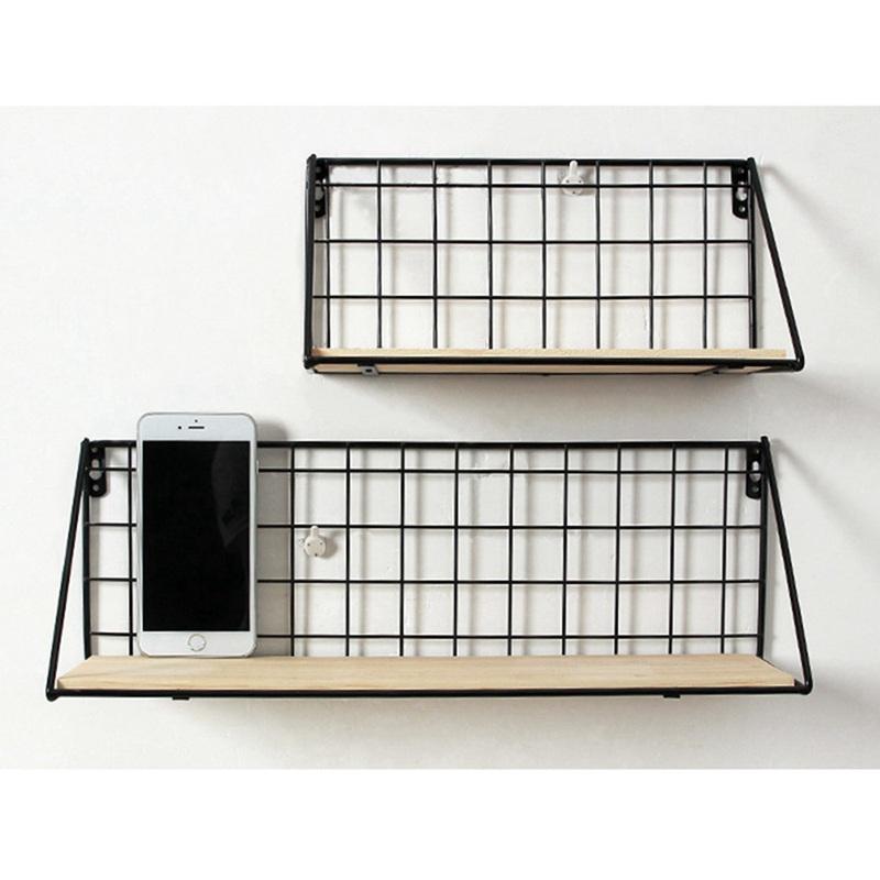 1X-Supports-de-stockage-de-fer-en-bois-Etagere-de-rangement-a-la-maison-Ten-S2A2 miniature 3