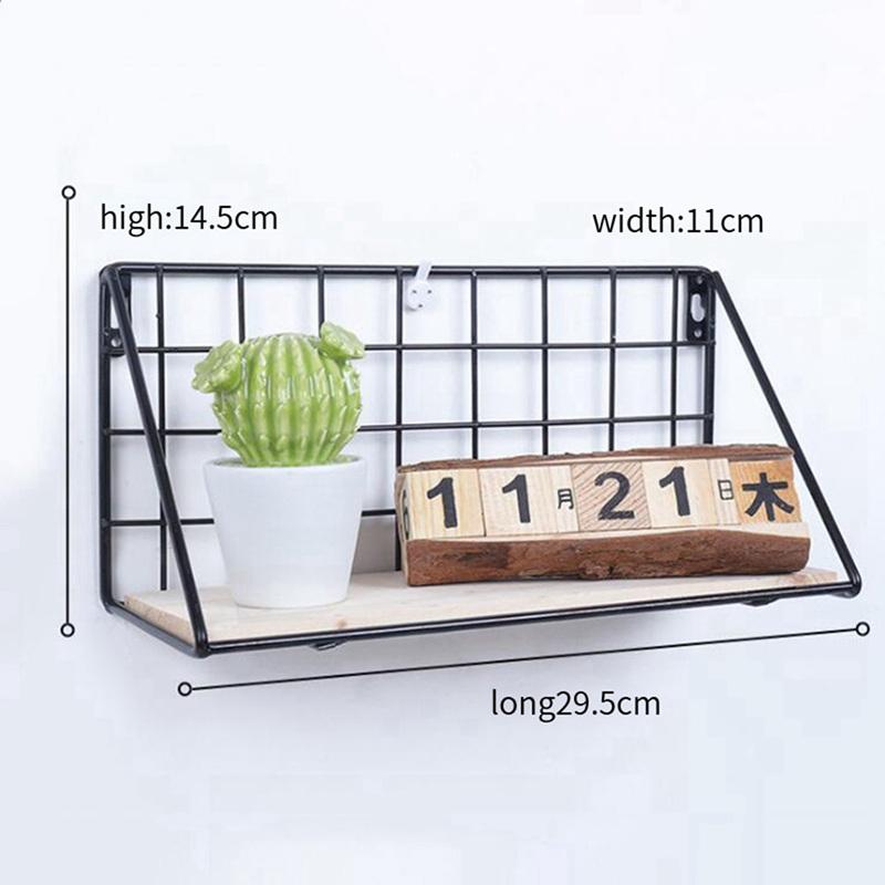 1X-Supports-de-stockage-de-fer-en-bois-Etagere-de-rangement-a-la-maison-Ten-S2A2 miniature 4