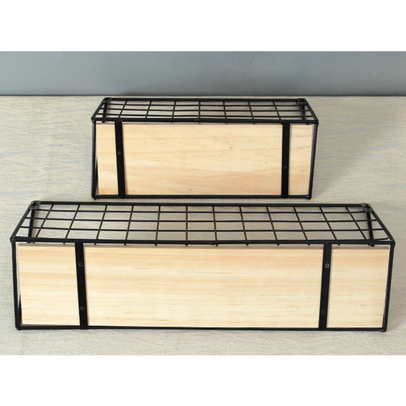 1X-Supports-de-stockage-de-fer-en-bois-Etagere-de-rangement-a-la-maison-Ten-S2A2 miniature 5