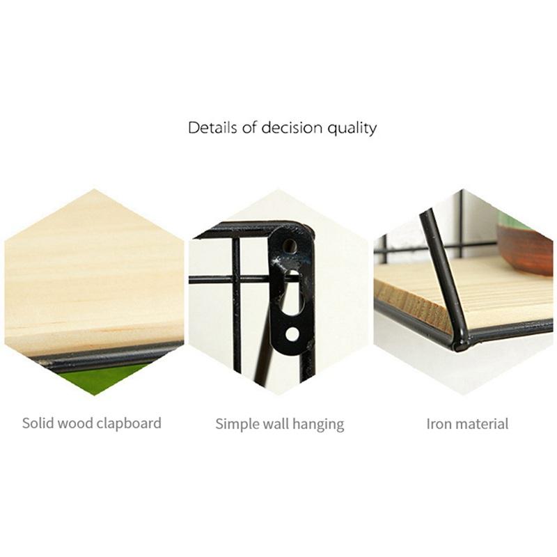 1X-Supports-de-stockage-de-fer-en-bois-Etagere-de-rangement-a-la-maison-Ten-S2A2 miniature 6