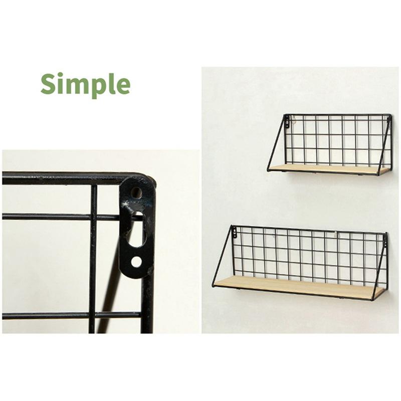 1X-Supports-de-stockage-de-fer-en-bois-Etagere-de-rangement-a-la-maison-Ten-S2A2 miniature 7