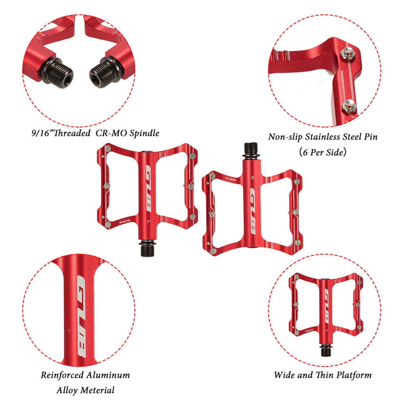 GUB-En-Aluminium-Pedales-De-Velo-Pour-VTT-Antiderapant-Pedale-De-Bicyclette-3G1 miniature 13