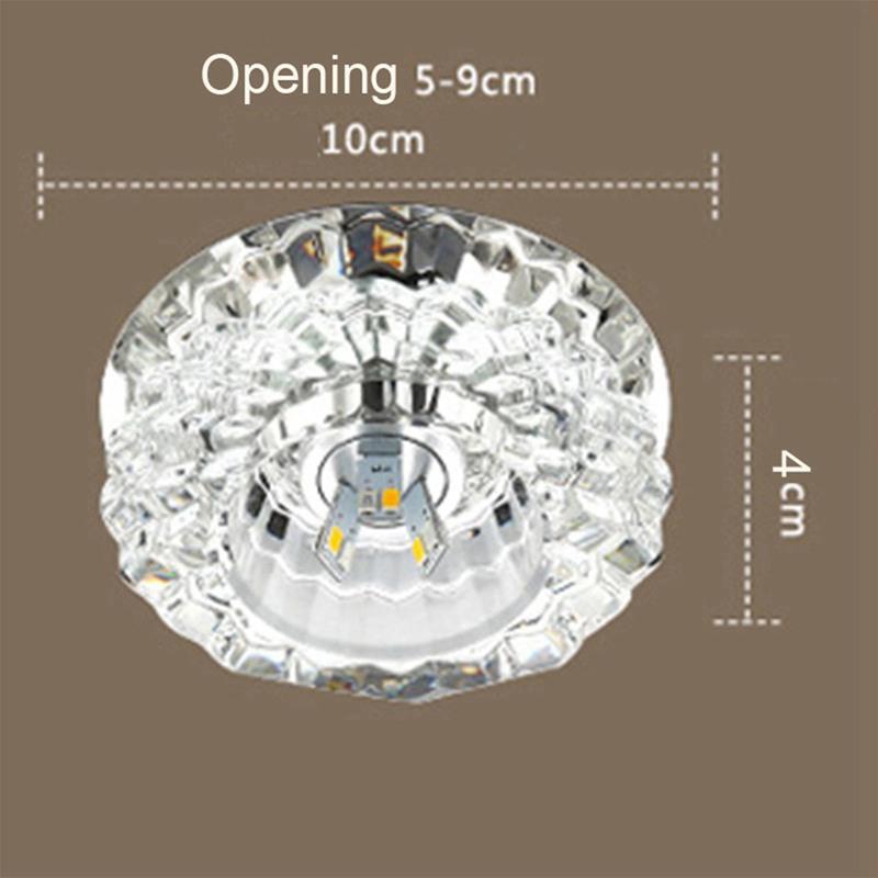 1X-Allee-Flush-LED-plafonnier-la-salle-de-sejour-cristal-couloir-Allee-lumi-C2D7 miniature 4
