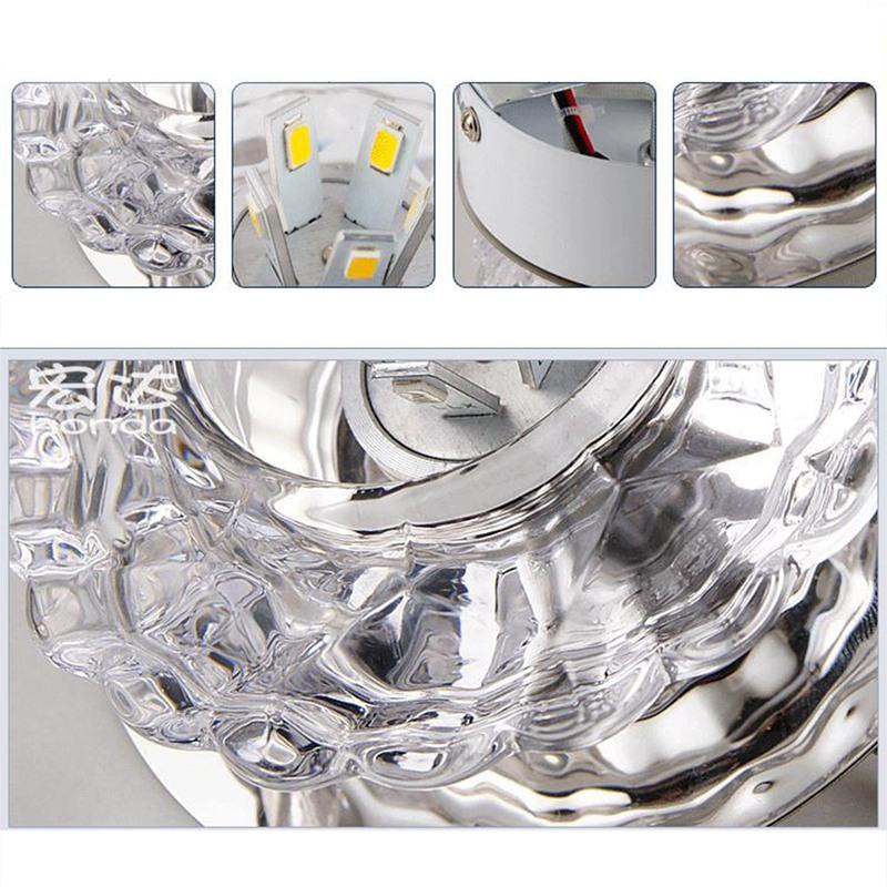 1X-Allee-Flush-LED-plafonnier-la-salle-de-sejour-cristal-couloir-Allee-lumi-C2D7 miniature 5