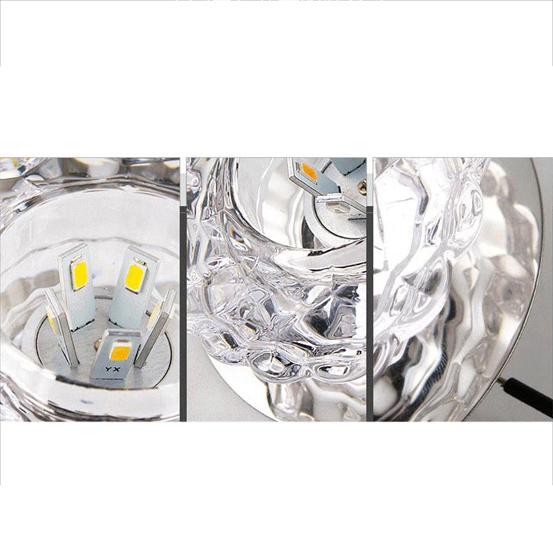 1X-Allee-Flush-LED-plafonnier-la-salle-de-sejour-cristal-couloir-Allee-lumi-C2D7 miniature 6