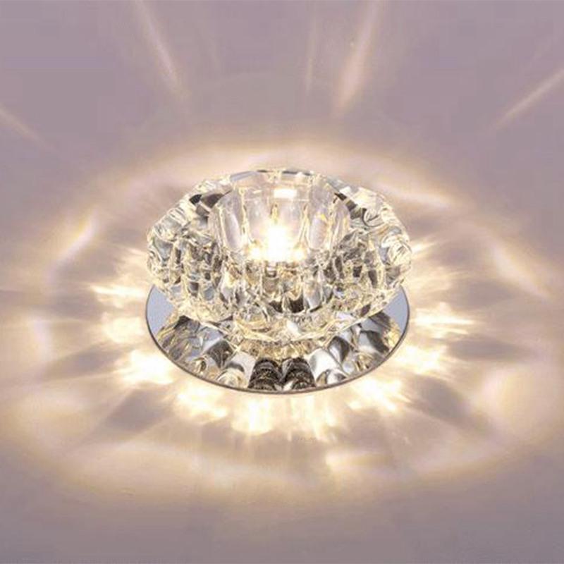 1X-Allee-Flush-LED-plafonnier-la-salle-de-sejour-cristal-couloir-Allee-lumi-C2D7 miniature 7