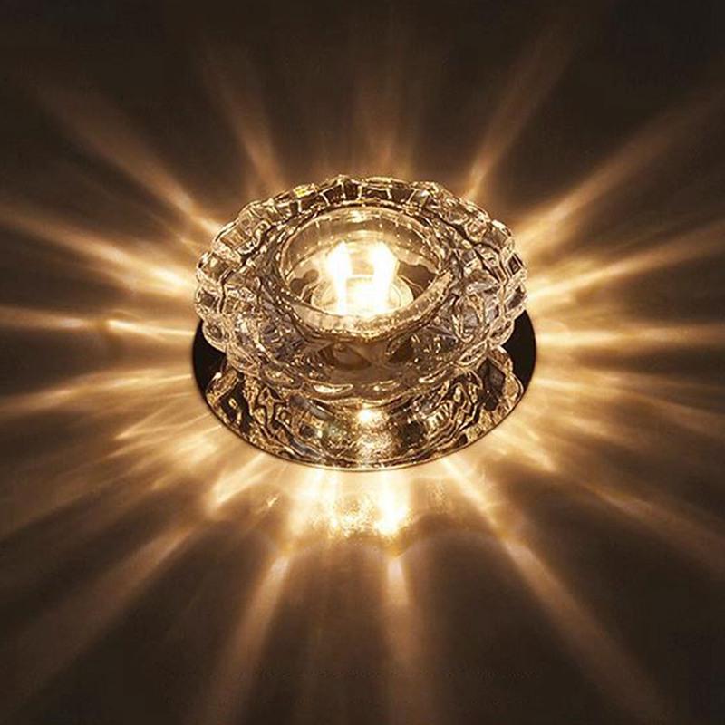 1X-Allee-Flush-LED-plafonnier-la-salle-de-sejour-cristal-couloir-Allee-lumi-C2D7 miniature 8