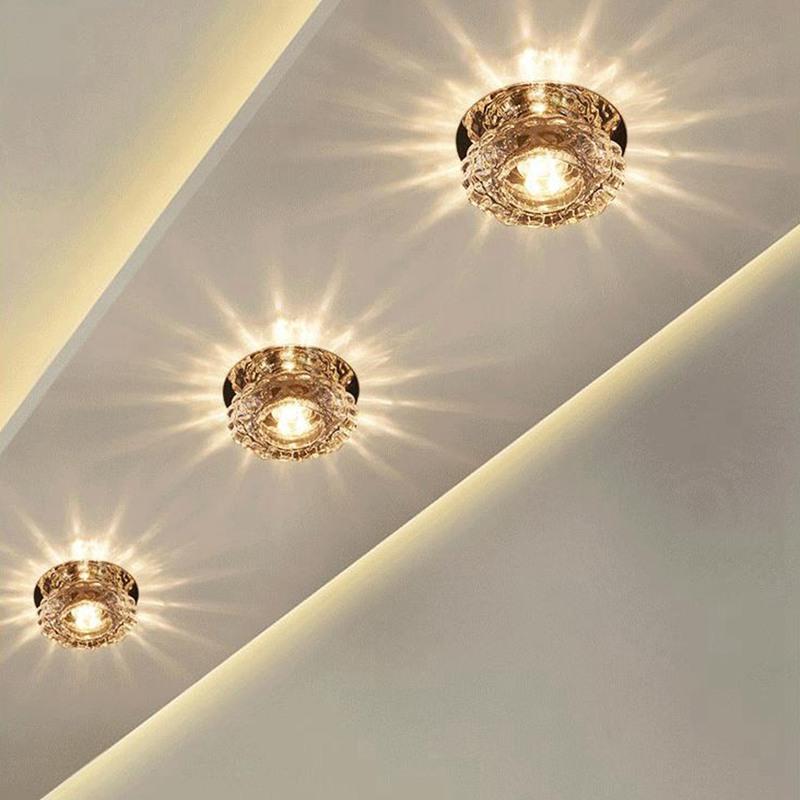 1X-Allee-Flush-LED-plafonnier-la-salle-de-sejour-cristal-couloir-Allee-lumi-C2D7 miniature 9