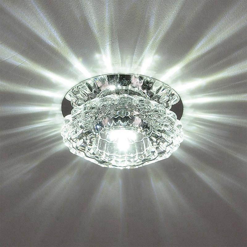 1X-Allee-Flush-LED-plafonnier-la-salle-de-sejour-cristal-couloir-Allee-lumi-C2D7 miniature 17