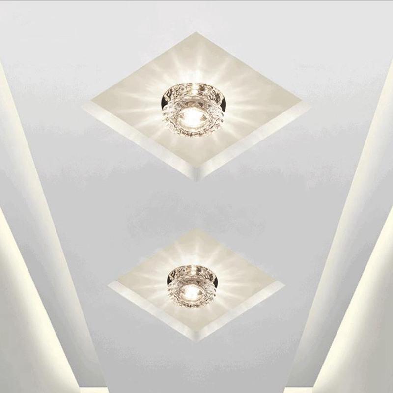 1X-Allee-Flush-LED-plafonnier-la-salle-de-sejour-cristal-couloir-Allee-lumi-C2D7 miniature 18