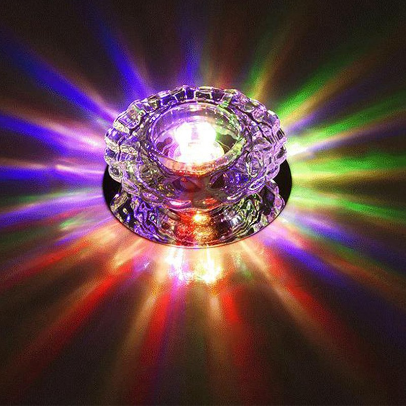 1X-Allee-Flush-LED-plafonnier-la-salle-de-sejour-cristal-couloir-Allee-lumi-C2D7 miniature 24