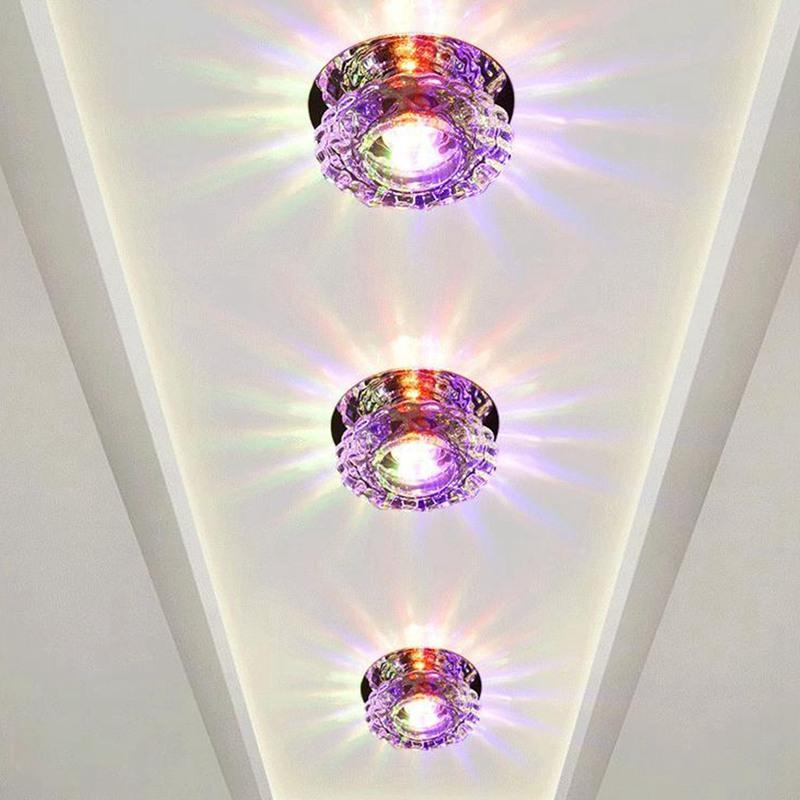 1X-Allee-Flush-LED-plafonnier-la-salle-de-sejour-cristal-couloir-Allee-lumi-C2D7 miniature 25