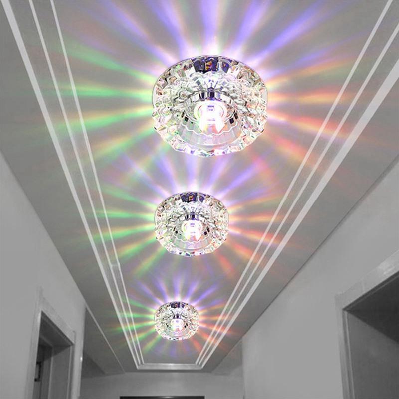 1X-Allee-Flush-LED-plafonnier-la-salle-de-sejour-cristal-couloir-Allee-lumi-C2D7 miniature 26