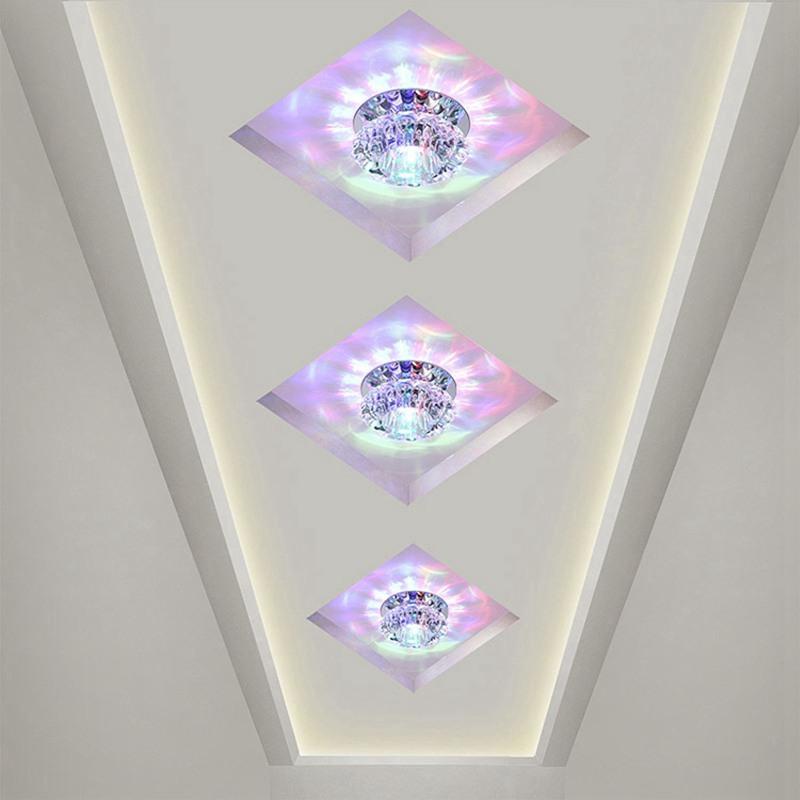 1X-Allee-Flush-LED-plafonnier-la-salle-de-sejour-cristal-couloir-Allee-lumi-C2D7 miniature 27